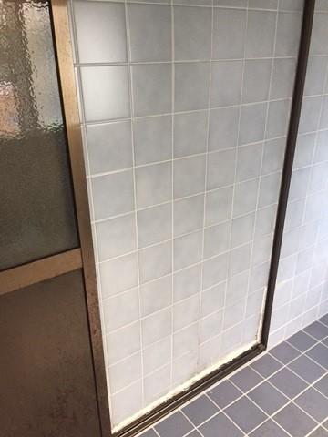 浴室壁タイル工事前