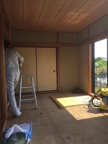 山田邸和室解体風景